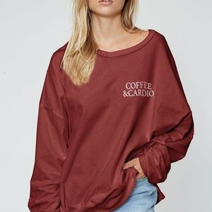 Coffee and Cardio Sweater - Mauve